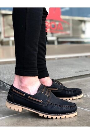 Marsetti Erkek Siyah Bağcıklı Klasik Ayakkabı 0