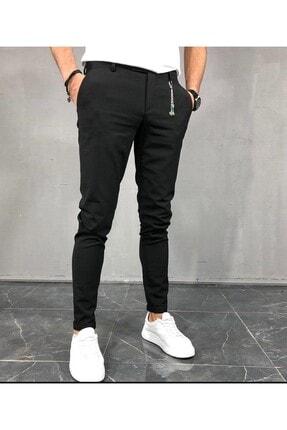 moda biz Italyan Kesim Slim Fit Siyah Kumaş Pantolon 0