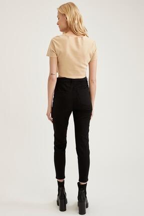 Defacto Kadın Siyah Yüksek Bel Pantolon 2