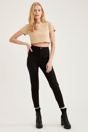 Defacto Kadın Siyah Yüksek Bel Pantolon 3
