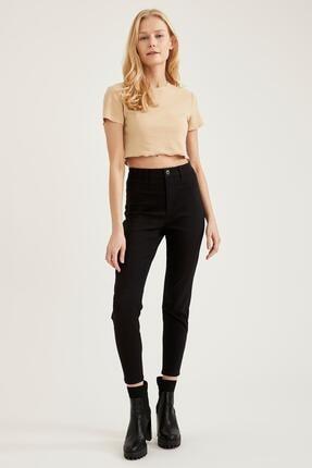 Defacto Kadın Siyah Yüksek Bel Pantolon 4