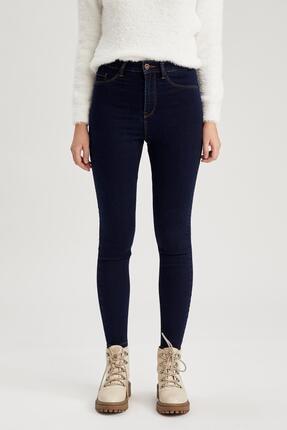 Defacto Kadın Koyu Mavi Super Skinny Fit Jean Pantolon 0