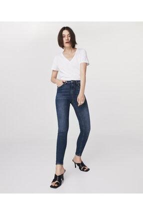 Twist Kadın Beyaz Basic T-shirt 1