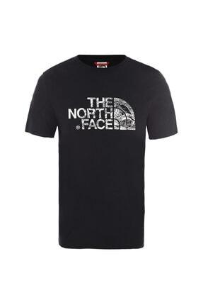 The North Face M S/S WOODCUT DOME EU Siyah Erkek T-Shirt 100576740 0