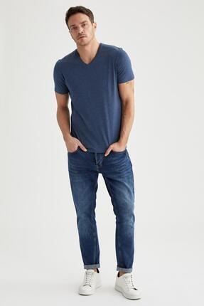 Defacto Slim Fit V Yaka Basic Tişört 1