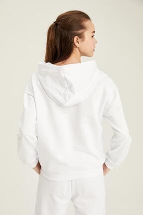 Defacto Organik Pamuklu Minimal Yazı Baskılı Relax Fit Sweatshirt 3