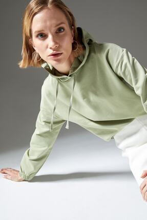 Defacto Regular Fit Organik Pamuk Kapüşonlu Sweatshirt 2