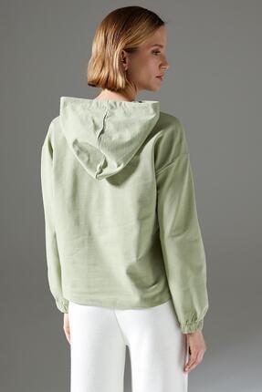 Defacto Regular Fit Organik Pamuk Kapüşonlu Sweatshirt 3