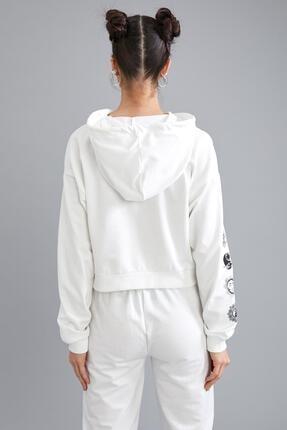 Defacto Coool Kapüşonlu Baskılı Relax Fit Sweatshirt 3