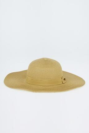 Defacto Şerit Detaylı Hasır Şapka 0