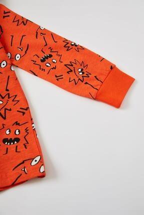Defacto Erkek Çocuk Baskı Desenli Uzun Kol Pijama Takım 3