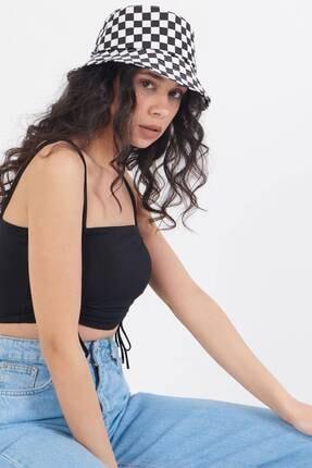 Addax Kadın Damalı Şapka Şpk1045 - E1 Adx-0000023856 1