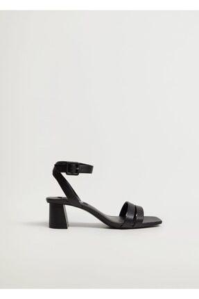 Mango Çizgili Topuklu Sandalet 2