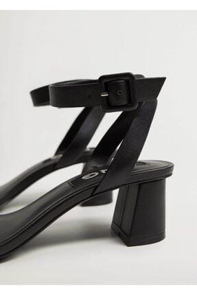 Mango Çizgili Topuklu Sandalet 3