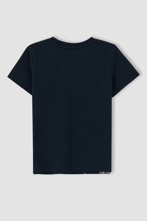 Defacto Erkek Çocuk Mavi Kral Şakir Lisanslı Kısa Kol Tişört 2