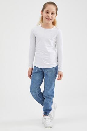 Defacto Kız Çocuk Basic Uzun Kollu Tişört 1