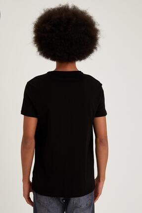 Defacto Slim Fit Bisiklet Yaka Basic Siyah Tişört 3