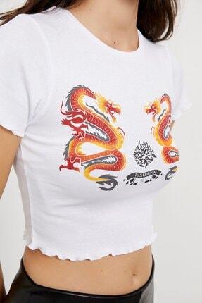 Arma Life Kadın Ejderha Baskı T-shirt 2