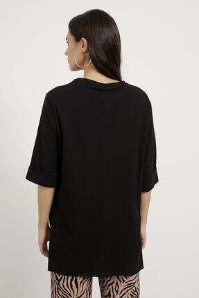 Arma Life Kadın Siyah Duble Kol Salaş Tişört 3