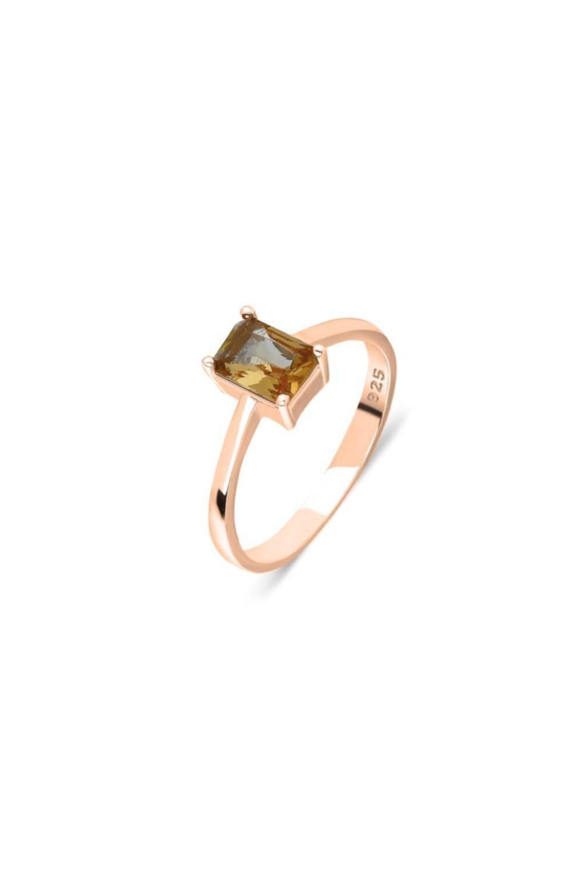 Roze Gümüş Yüzük Zultanit Taşlı Kadın Yüzüğü Yzk-353