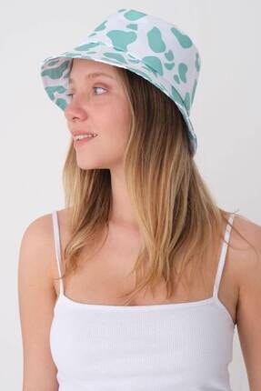 Addax Kadın Mint Beyaz Şapka Şpk1045 - E1 Adx-0000023856 3