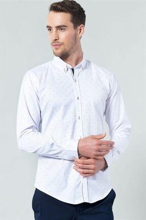 Tudors Dar Kesim Likralı Erkek Gömlek 1