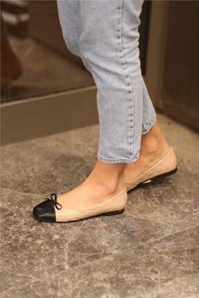 Cömert Ayakkabı Pier Kadın Babet Bej Kapitone 2
