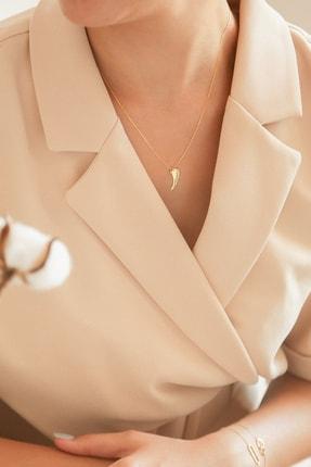 Gelin Pırlanta Kadın Altın Gelin Diamond Pırlantalı Melek Kanadı Kolye 1