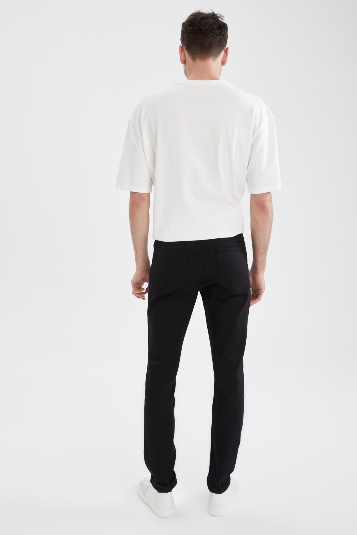 Defacto Carlo Skinny Fit Düşük Bel Dar Paça Siyah Jean Pantolon