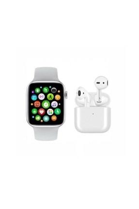 RPM BİLİŞİM Saat Smart Watch + Airpods I12 Tws  Uyumlu Kablosuz Kulaklık Beyaz İkili Kombin 0