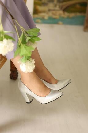 Kadın Stiletto Ayakkabı Gümüş Prada BGTKMDK359355
