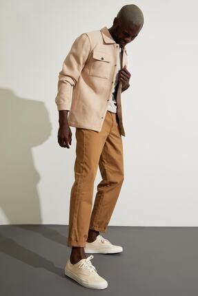 Defacto Slim Fit Polo Yaka Gömlek Ceket 1