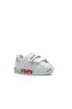 Benetton BN-1017 Beyaz-Yeşil Çocuk Spor Ayakkabı 1