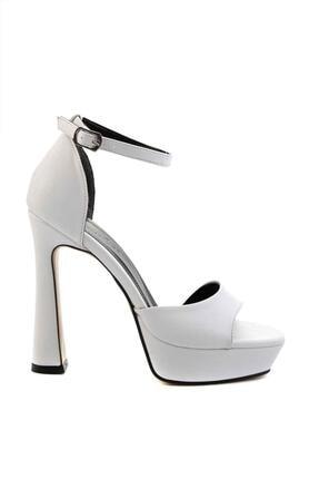 Bambi Beyaz Kadın Abiye Ayakkabı K01925010009 1