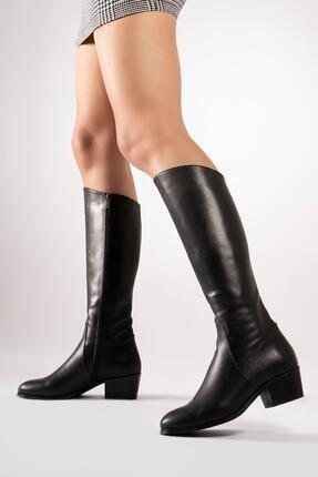 CZ London Hakiki Deri Kadın Çizme Uzun Kışlık Kadın Ayakkabı 4