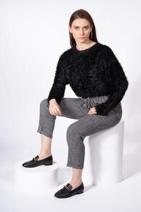 CZ London Hakiki Deri Kadın Loafer Zincirli Günlük Klasik Makosen Ayakkabı 0