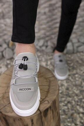 Riccon Erkek Buz Beyaz  Sneaker 00122023 4