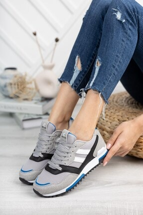 Riccon Unisex Gri Saks Sneaker 0012863 1
