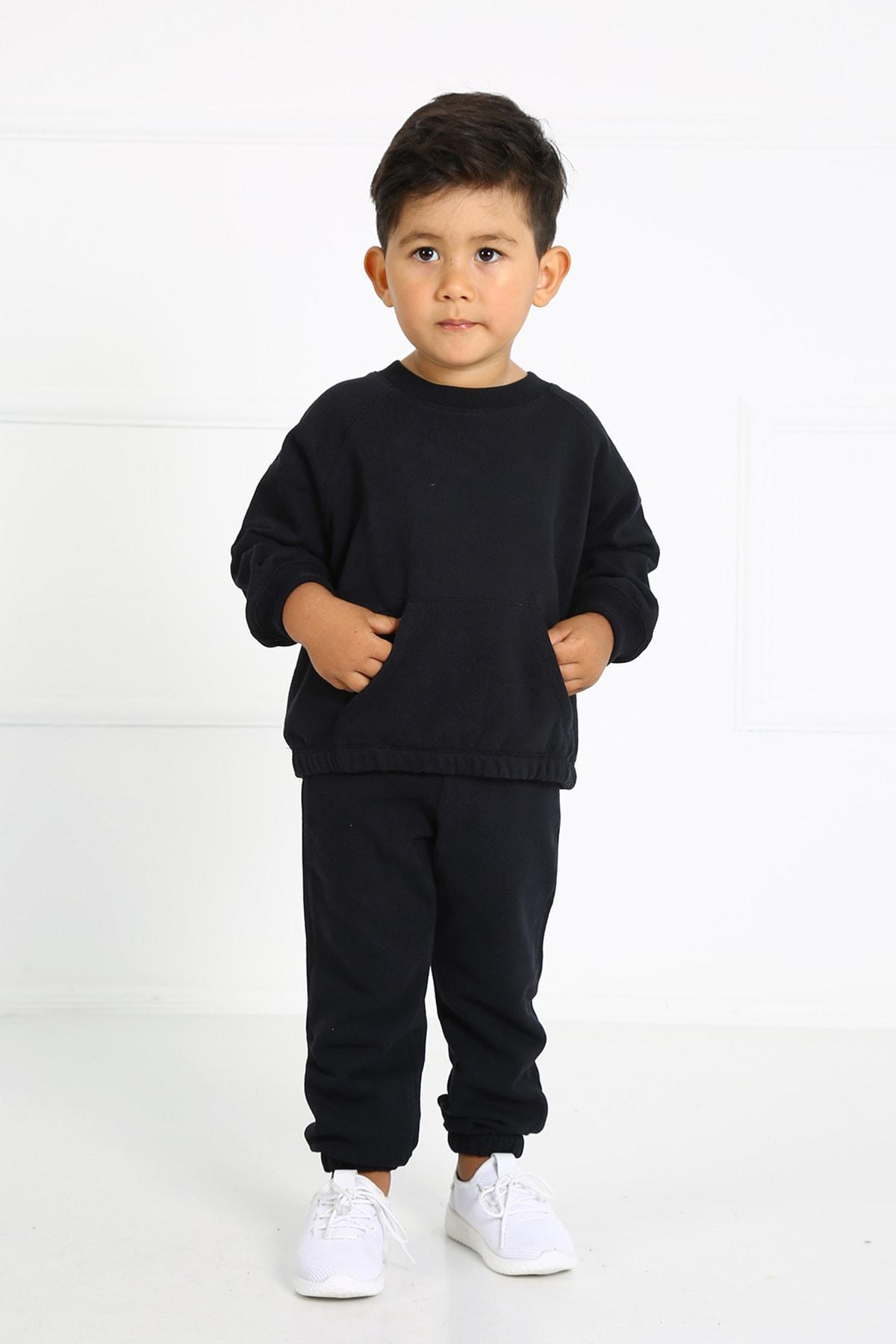 Çocuk Siyah Cepli Alt Üst Takım