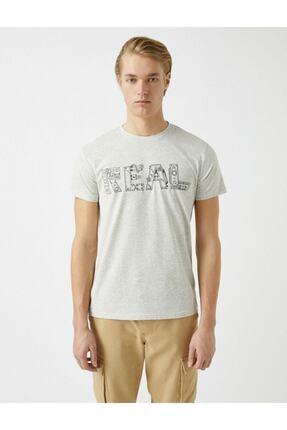 Koton Erkek Pamuklu Bisiklet Yaka Baskili Kisa Kollu  T-Shirt 2