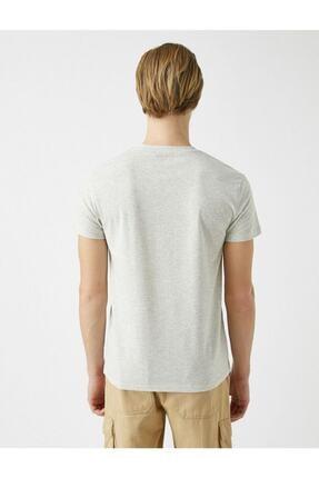 Koton Erkek Pamuklu Bisiklet Yaka Baskili Kisa Kollu  T-Shirt 3
