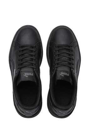 Puma SMASH V2 L JR Siyah Erkek Çocuk Sneaker Ayakkabı 100346457 4