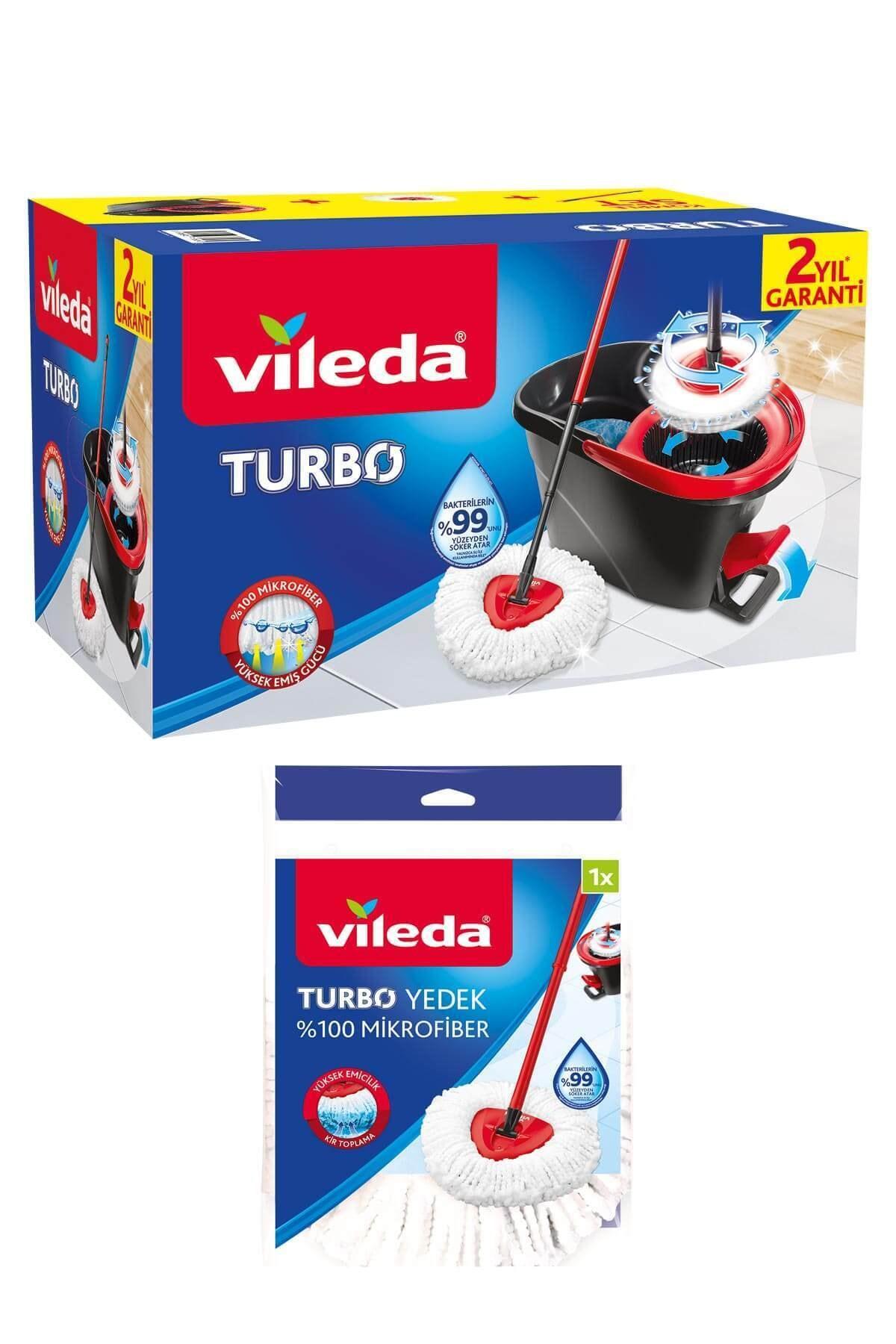 Turbo Pedallı Temizlik Seti + Turbo Üçgen Mikrofiber Yedek Paspas