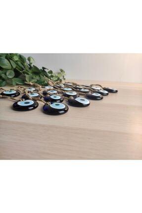 Keven Home 20 Adet - Cam Nazar Boncuğu - 4cm Delikli Dekoratif Nazar Boncuğu - Hazır Süslemelik Nazar Boncuğu 1