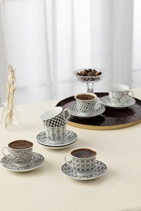 English Home Carey Porselen 6'lı Kahve Fincan Takımı 90 ml Siyah 0