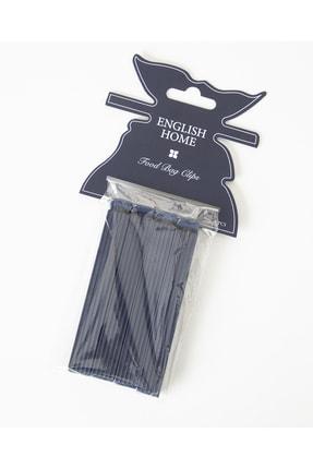 English Home Trendy Plastik 4 Parça Poşet Klipsi Lacivert 2