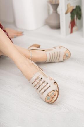 Diego Carlotti Hakiki Deri Kadın Topuklu Sandalet 1