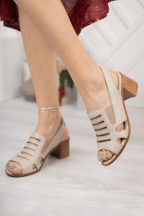 Diego Carlotti Hakiki Deri Kadın Topuklu Sandalet 2