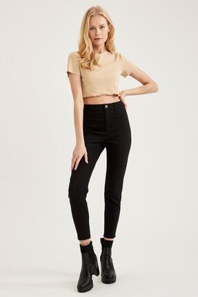 Defacto Kadın Siyah Yüksek Bel Pantolon 0