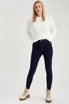 Defacto Kadın Koyu Mavi Super Skinny Fit Jean Pantolon 1